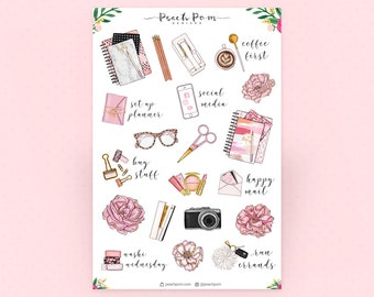 Goal Digger Deco Planner Stickers