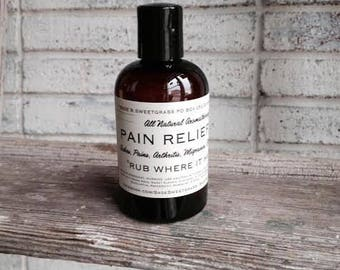 PAIN RELIEF OIL {3 Sizes, Headaches, Aches, Pains, Nerve Pain, Post Injury, Before & After Workouts, Cold, Flu, Inability to Sleep, Stress}