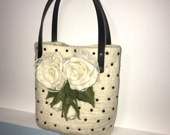 Handmade-Felted Wool Handbag