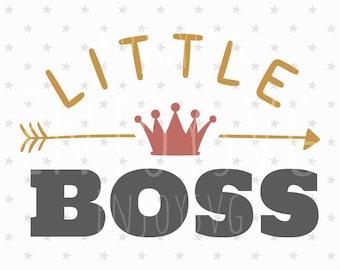 Little BOSS SVG Baby svg cut file Little Boss cut File Silhouette Cameo File Cricut Cutting File Vinyl  dxf eps Baby Svg cutting files