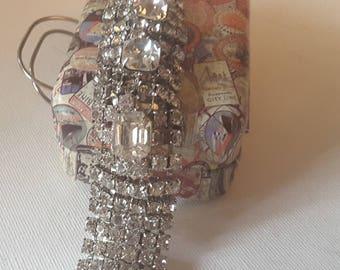 Rhinestone bracelet, missing end