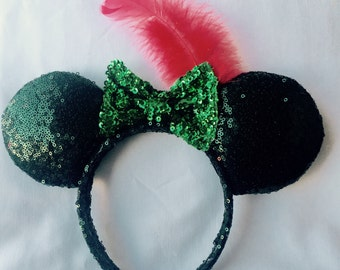 Peter Pan Tinkerbell Disney Minnie Mouse Ears Headband