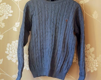SUPER SALE: Posh 90s bright blue GANT cable knit sweater