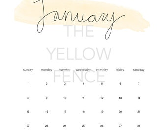 2017 Printable Yearly Calendar