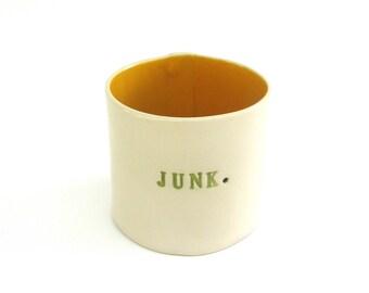 hand built porcelain junk vessel