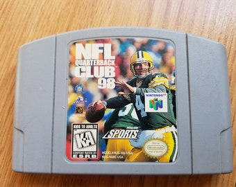 Original NFL Quarterback Club 98 - N64 GAME, Vintage 90's Nintendo 64 Game Pak