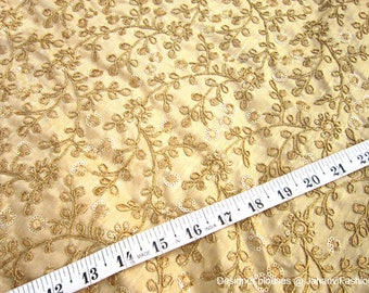 Readymade Golden Embroidery blouse with boat neck style - designer fabric - unique fabric - antique fabric - Designer Blouse