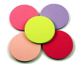50 Paper Die Cut Circles  2 inch  Circles in Butterfly Wings