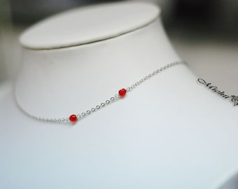 Vampire Bite Necklace - Mark Of The Vampire Necklace - Ruby