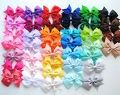"10 x Surprise mix of medium sized 3.5"" bows / ribbon bows /  Bonny Bowtique / girls hair accessories / gifts /  UK / school bows /bow holder"