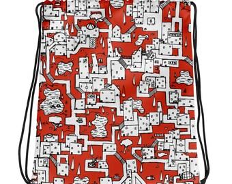 Isometric City #01  - Drawstring bag