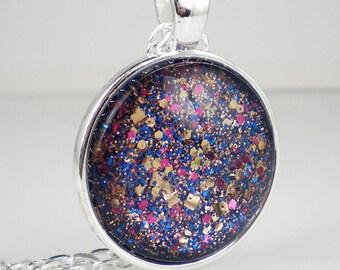 Pink Blue Gold Glitter Confetti Nail Polish Necklace Jewelry Nail Polish Jewelry