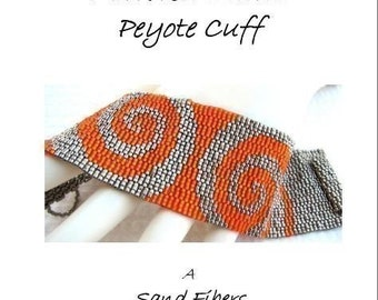 3 for 2 Program - Mirrored Swirls Peyote Cuff - For Personal Use Only PDF Pattern
