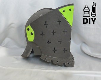 DIY For Honor: Lawbringer helmet templats for EVA foam