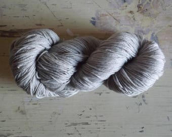 Natural, hand dyed 4 Ply Wool Sock Yarn - Oak Apples & Iron Pearl Grey - 100g