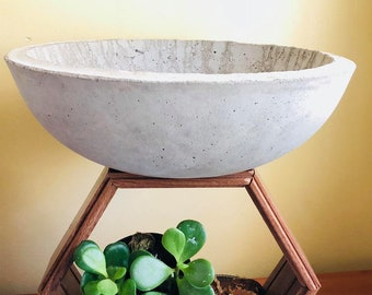 cement/concrete pot planter for succulents indoor/outdoor