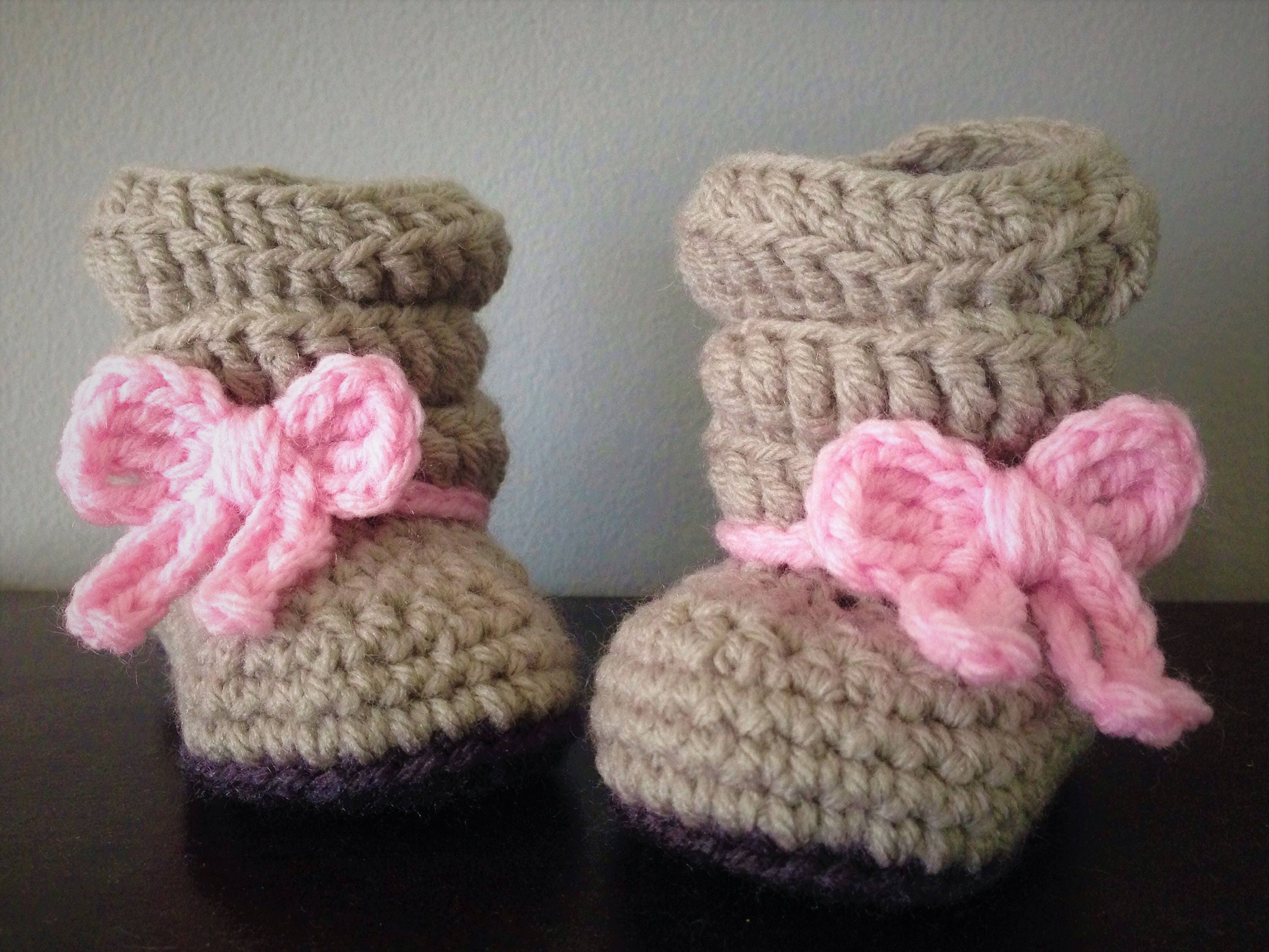 Mia Slouch Boot Baby Girl Crochet Boots Baby Winter Boots
