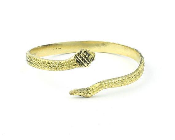 Brass Snake Bracelet, Serpent Lower Arm Cuff, Wrap Around Snake Bracelet, Armlet, Bangle, Boho, Bohemian, Gypsy, Festival, Hippie, Wicca