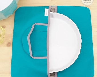 Pie bag - door flat - turquoise