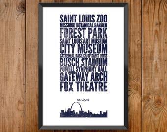 St Louis City Print