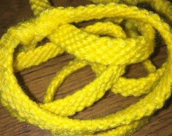Yellow Yarn Bracelet