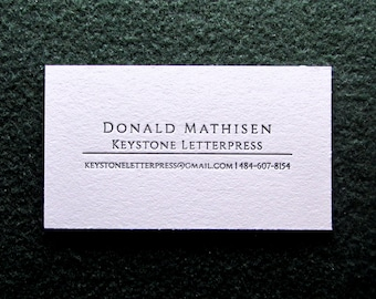 Great Price! - 50 Letterpress Business Cards, Professional Series 3. Why Pay More?