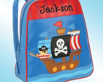 Backpack - Personalized and Embroidered - Go Go Bag - PIRATE SHIP