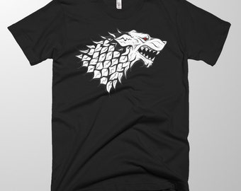 The White Wolf || King in the North Shirt Game of Thrones T Shirt / Unisex Soft Top/ Wolf / Dire wolf/ Stark / Jon Snow / Ghost/ Gift