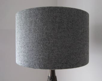 Harris Tweed Lampshade Plain Grey