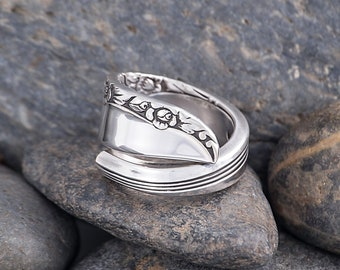 Silverware Handle Ring (Spoon Ring) Size 9 SR150