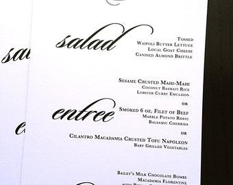 Wedding Menu -Monogram Menu- Wedding Reception Menu- Personalized- Wedding Monogram- Dinner Menu- Printable Option