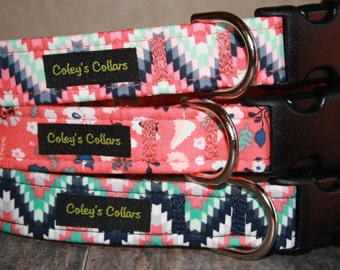 """Aztec Dog Collar, Dog Collar, Dog Collars, Tribal Dog Collar, Boy Dog Collar, Girl Dog Collar, Male Dog Collar,  """"The Aztec Collection"""""""