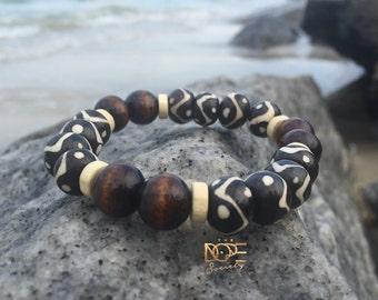Tribal Style Bracelet, Bead Bracelet, Boho Bracelet, Handmade Bead Bracelet, Boho Bead Bracelet, Surfer Bracelet, Wooden Bohemian Bracelet