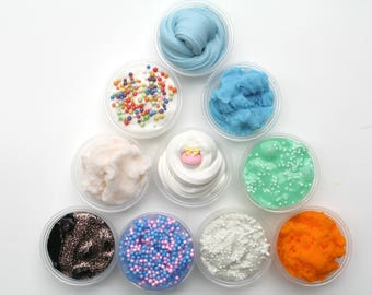MYSTERY SLIME PACK [4 Slimes]  Cheap slime, Mystery slime, clear slime, floam, cloud slime, fluffy slime, scented, unscented,Mystery slimes