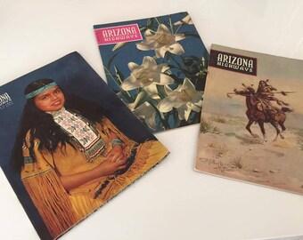 Lot of Three 1950's Arizona Highways Magazines -- Southwest -- Native American