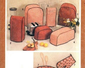 Simplicity 9532 Retro Kitchen Appliance Covers / 1980 UNCUT