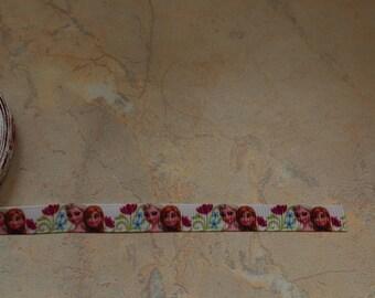 "White Ribbon printed with ""Princess"", 10mm"