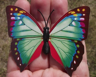 1 magnetic decor, Decor refrigerator green multi color butterfly. N1