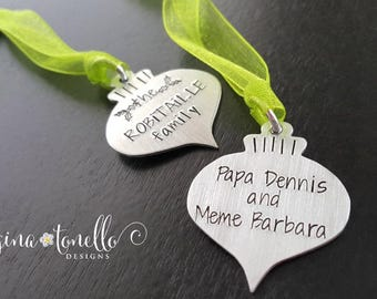 Personalized Ornament, Family Ornament, Gift Tag, Family Gifts, Personalized Hostess Gift Ideas, 2018 Ornament