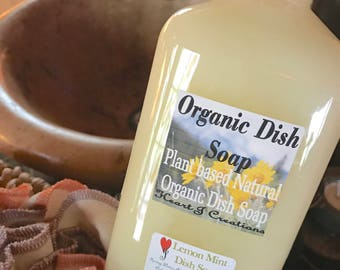 ORGANIC DISH SOAP ~ Plant Based