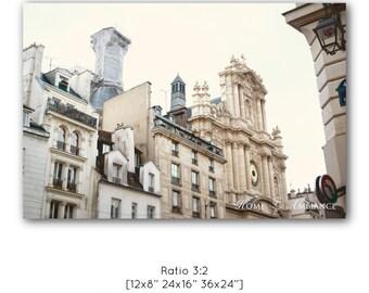 Paris facades photo print, Paris architecture, Paris decor, Large Wall Art Print, Romantic Art Print, Fine Art Photography, Travel canvas