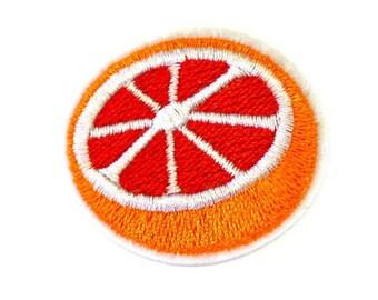 Orange Patch, Cut Orange Iron on Patch, Sliced Orange Appliqué, Orange Clothes Patch, Citrus Fruit Patch