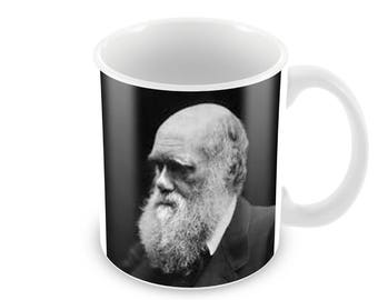 Charles Darwin  Ceramic Coffee Mug    Free Personalisation