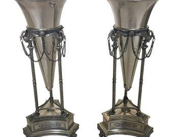 Neoclassical Style Vases - A Pair