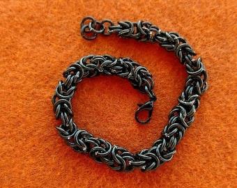 Chain Maille Bracelet, Black