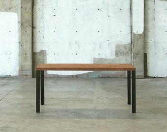 SPRING SALE - 15 percent off - modern loft table - kitchen, dining - reclaimed wood and recycled steel - modern parsons style table