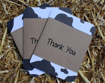 Cow Print Thank You Cards