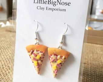 Hawaiian Pizza Slice Earrings