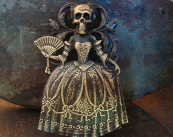 Gothic Miz BELLA, Necklace or Jewelry Pendant Only, Custom Metal Bonded NOT Glued Together,  Victorian Lady Haunt, Pendant, Custom Design