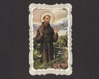 Gilded Saint Francis Prayer for my Pet Holy Card - Available in 1, 5 and 10 Packs     (F-EE)